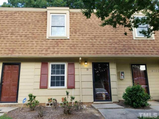 4700 Bluebird Court D, Raleigh, NC 27606 (#2199576) :: The Abshure Realty Group
