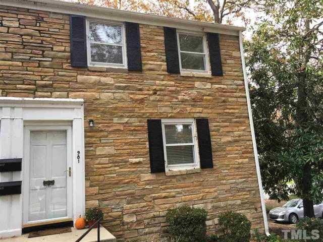 981 St Marys Street #0, Raleigh, NC 27605 (#2225297) :: M&J Realty Group