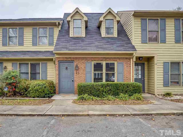 15 Stone Village Court #15, Durham, NC 27704 (MLS #2227241) :: The Oceanaire Realty