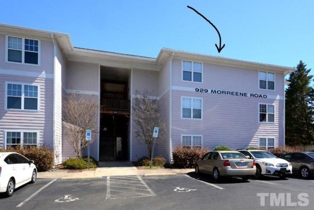 929 Morreene Road A-34, Durham, NC 27705 (#2245221) :: The Jim Allen Group