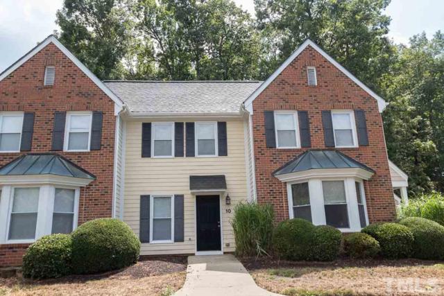 10 Forest Glen Drive #10, Chapel Hill, NC 27517 (#2272501) :: Classic Carolina Realty
