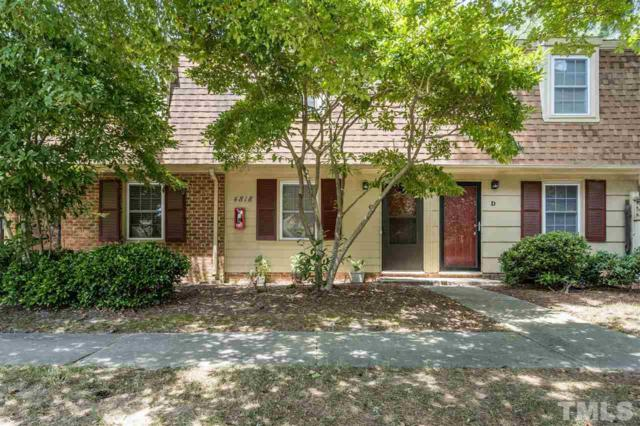 4818 Blue Bird Court C, Raleigh, NC 27606 (#2264891) :: Real Estate By Design