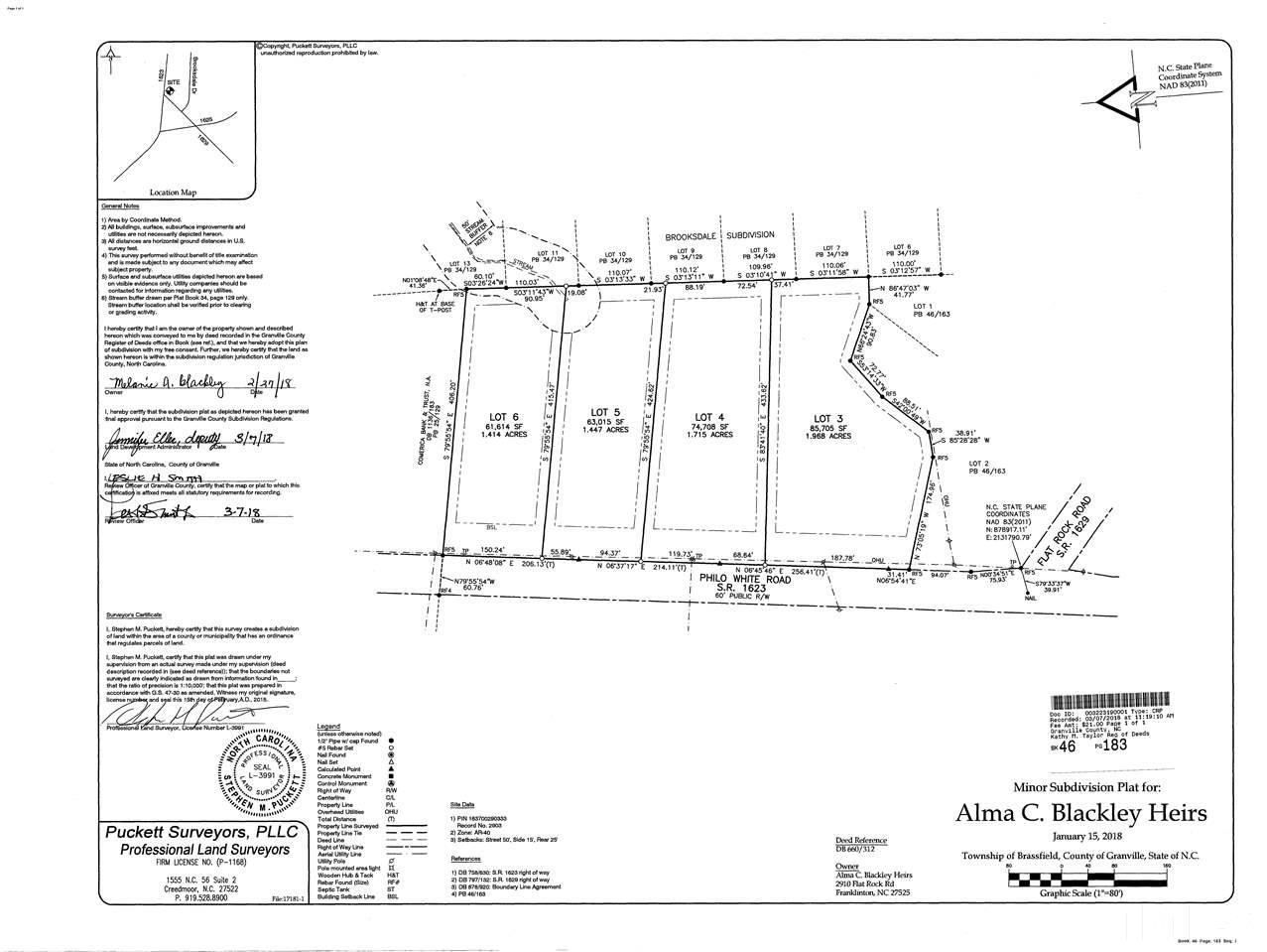 Franklinton Nc Map.4 Philo White Road Franklinton Nc 27525 2178003 Raleigh