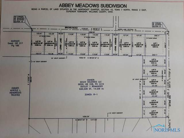 00 Brown Rd (Lot 14), Montpelier, OH 43543 (MLS #6054276) :: RE/MAX Masters