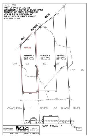 Lot1 Old Milford Rd, Prince Edward County, ON K0K 2P0 (#X5307974) :: The Ramos Team