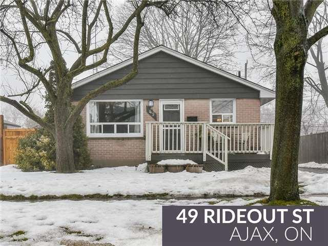 49 Rideout St, Ajax, ON L1S 1P9 (#E4046987) :: Beg Brothers Real Estate