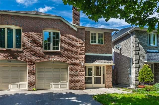 16 Foxgrove Crt, Markham, ON L3R 3Y3 (#N4134686) :: RE/MAX Prime Properties