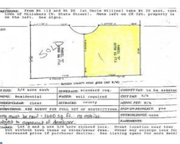 28164 Fox Run Lot C, Millsboro, DE 19966 (MLS #7086173) :: RE/MAX Coast and Country