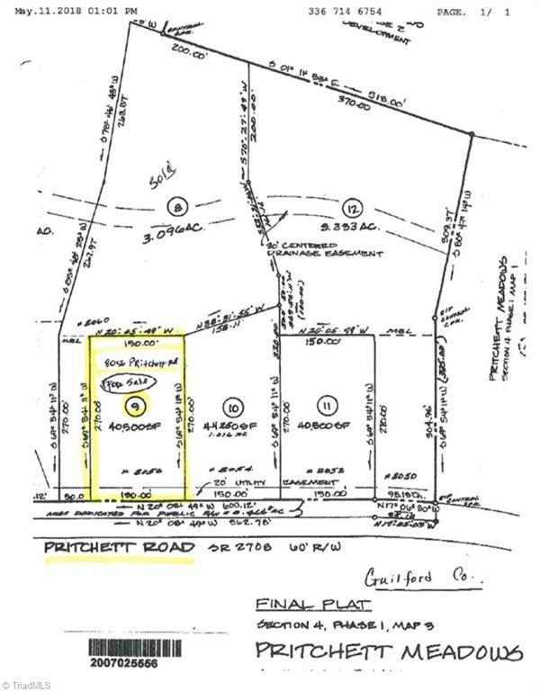8056 Pritchett Road, Browns Summit, NC 27214 (MLS #832377) :: Banner Real Estate