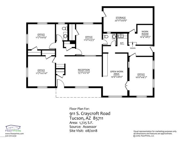 911 S Craycroft Road, Tucson, AZ 85711 (#21825880) :: Gateway Partners at Realty Executives Tucson Elite