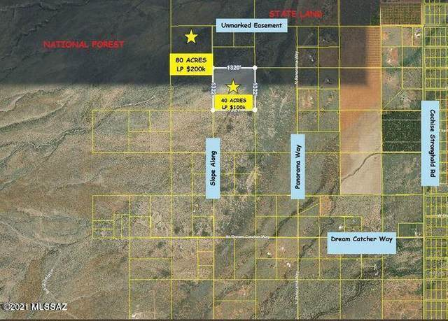 (2 LOTS) 120 Acre Slope Along Way, Cochise, AZ 85606 (#22105496) :: Kino Abrams brokered by Tierra Antigua Realty