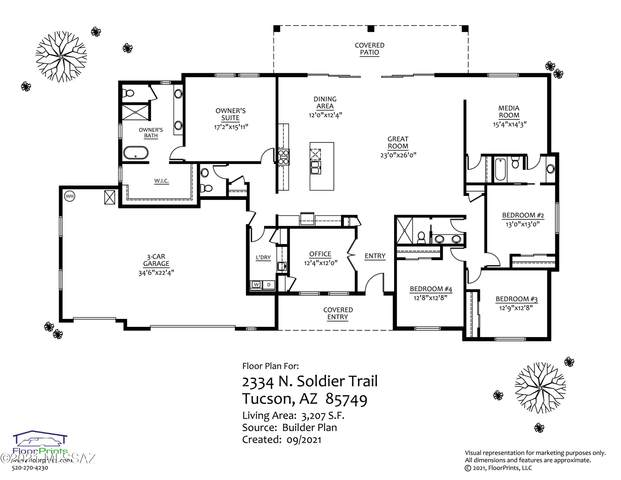2334 N Soldier Trail, Tucson, AZ 85749 (#22123575) :: Long Realty - The Vallee Gold Team