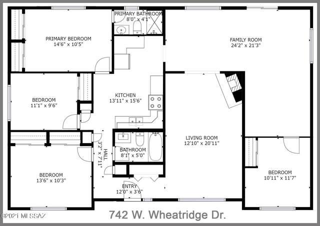 742 W Wheatridge Drive, Tucson, AZ 85704 (#22126462) :: Long Realty - The Vallee Gold Team