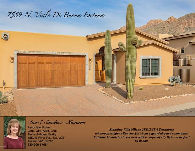 7589 N Viale Di Buona Fortuna, Tucson, AZ 85718 (#22003528) :: Long Realty - The Vallee Gold Team