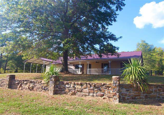 24350 Wolf Ridge Road, Wister, OK 74966 (MLS #2135492) :: Hopper Group at RE/MAX Results