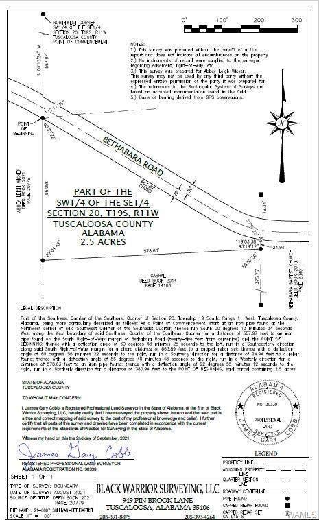 0 Bethabara Road, NORTHPORT, AL 35475 (MLS #146460) :: The K|W Group