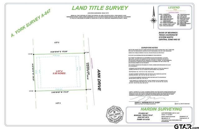Lots 4-5 Ann Drive, Murchison, TX 75778 (MLS #10136742) :: RE/MAX Professionals - The Burks Team