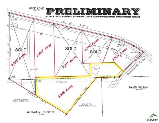9.986 Acres Northwest Rd., Tyler, TX 75707 (MLS #10091950) :: RE/MAX Professionals - The Burks Team