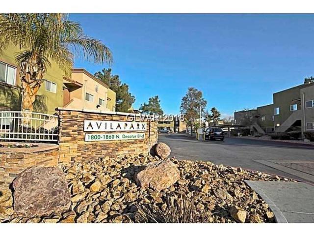 1820 Decatur #101, Las Vegas, NV 89108 (MLS #2019403) :: Signature Real Estate Group