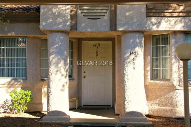 1431 Di Blasi #104, Las Vegas, NV 89119 (MLS #2042599) :: Sennes Squier Realty Group