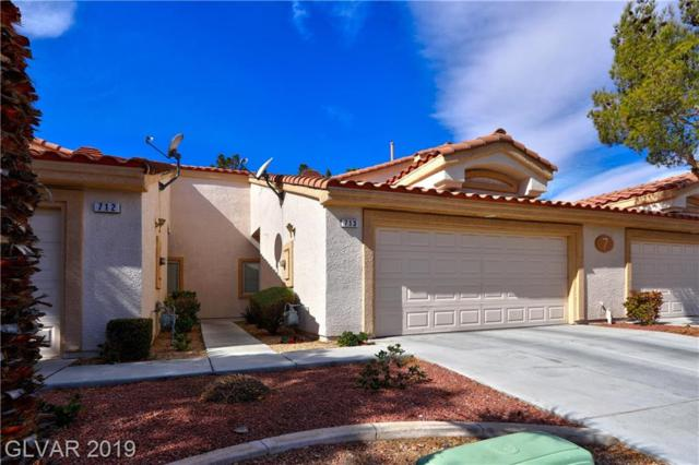 855 Stephanie #713, Henderson, NV 89014 (MLS #2074294) :: The Snyder Group at Keller Williams Marketplace One
