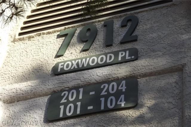 7912 Foxwood #102, Las Vegas, NV 89145 (MLS #2074571) :: Vestuto Realty Group