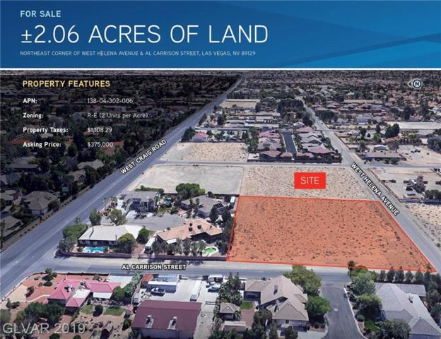 0 Helena Ave., Las Vegas, NV 89129 (MLS #2094372) :: The Snyder Group at Keller Williams Marketplace One
