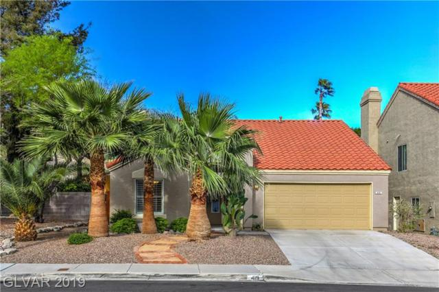 419 Raindance, Henderson, NV 89014 (MLS #2094806) :: The Snyder Group at Keller Williams Marketplace One
