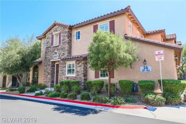 8431 Classique #101, Las Vegas, NV 89178 (MLS #2134731) :: Signature Real Estate Group