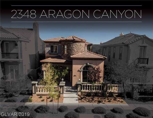 2348 Aragon Canyon, Las Vegas, NV 89135 (MLS #2141327) :: Signature Real Estate Group