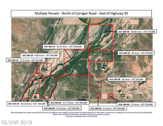 Carrigan - 17.77 Acres, Caliente, NV 89008 (MLS #2158576) :: Signature Real Estate Group