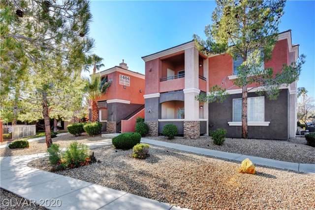 1404 Kilamanjaro #103, Las Vegas, NV 89128 (MLS #2165681) :: Hebert Group | Realty One Group