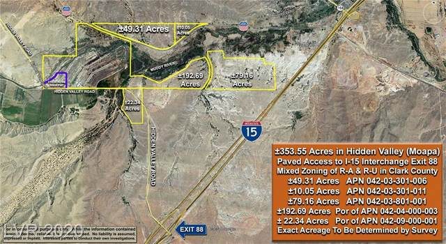 353.55 Acres - Hidden Valley Road, Moapa, NV 89025 (MLS #2177524) :: The Lindstrom Group
