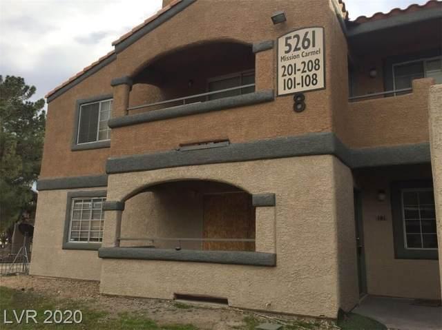 5261 Mission Carmel Lane #101, Las Vegas, NV 89107 (MLS #2221554) :: The Shear Team