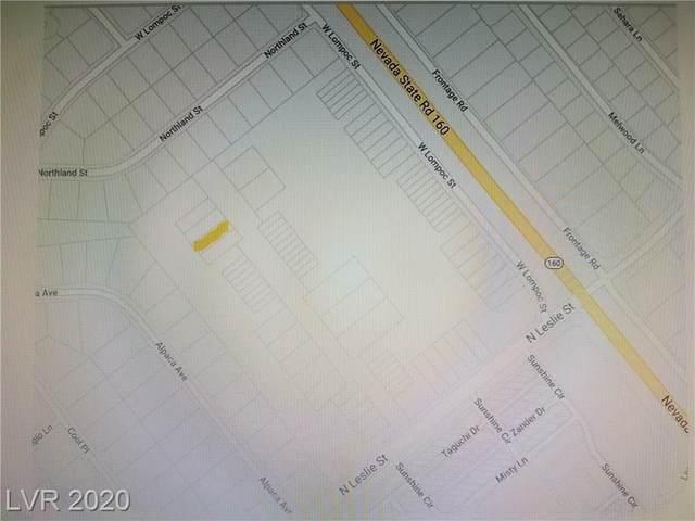 300 W Leslie Lot 57, Pahrump, NV 89060 (MLS #2242386) :: Lindstrom Radcliffe Group