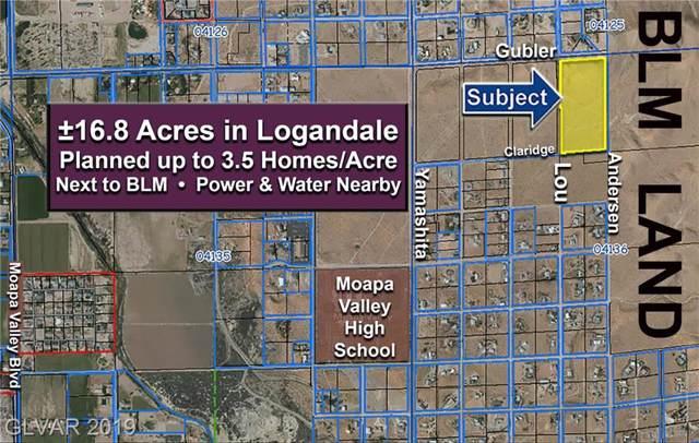 16.8 Acres €¢ Apn 041-36-101-005, Logandale, NV 89021 (MLS #2144105) :: The Snyder Group at Keller Williams Marketplace One