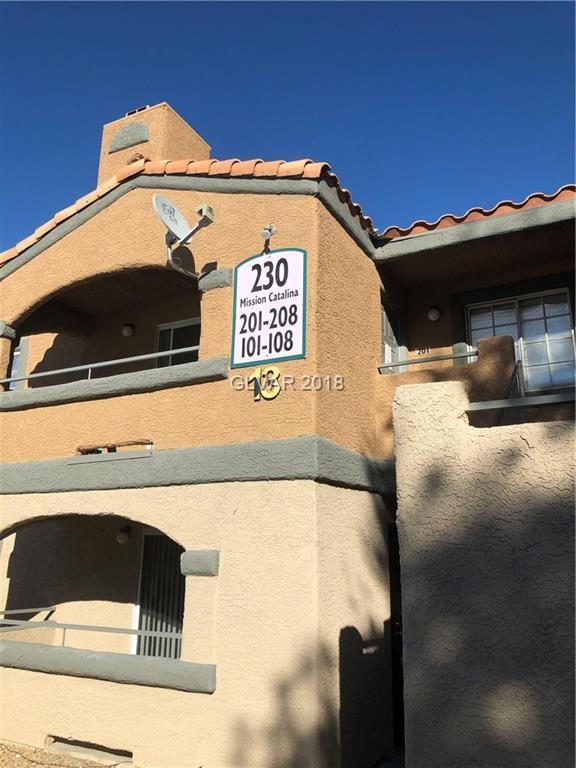 230 Mission Catalina #105, Las Vegas, NV 89107 (MLS #1970527) :: Signature Real Estate Group