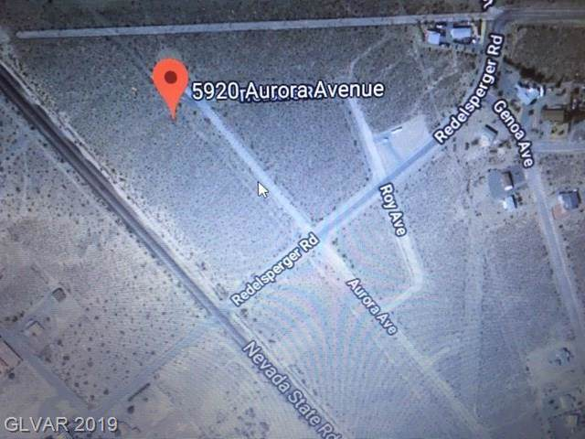 5920 N Aurora, Pahrump, NV 89060 (MLS #2142932) :: The Snyder Group at Keller Williams Marketplace One