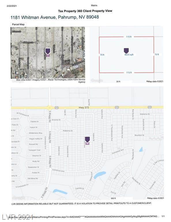 1181 S Whitman Avenue, Pahrump, NV 89048 (MLS #2273693) :: Jeffrey Sabel