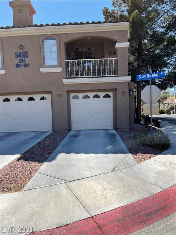5465 Shay Mountain Place #204, Las Vegas, NV 89149 (MLS #2283693) :: Jeffrey Sabel