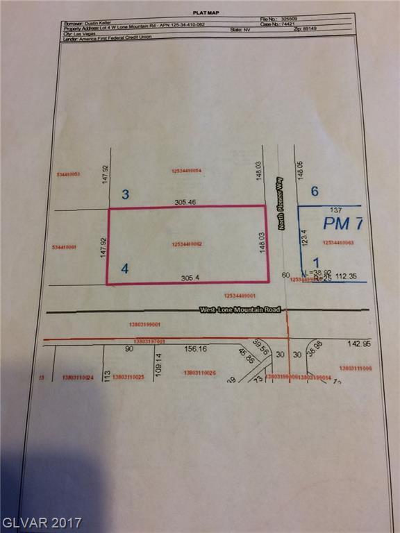 Lot 4 W. Lone Mountain Road, Las Vegas, NV 89149 (MLS #1909340) :: Vestuto Realty Group