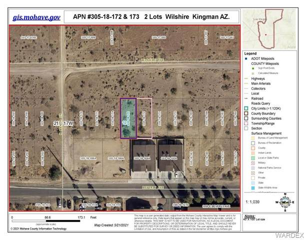 172-173 Wilshire Avenue, Kingman, AZ 86401 (MLS #981376) :: The Lander Team