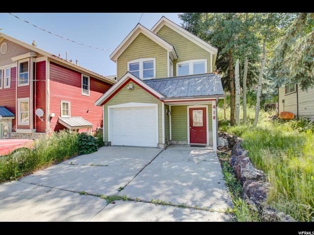 418 Marsac And 417 Ontario Ave, Park City, UT 84060 (#1616639) :: The Fields Team