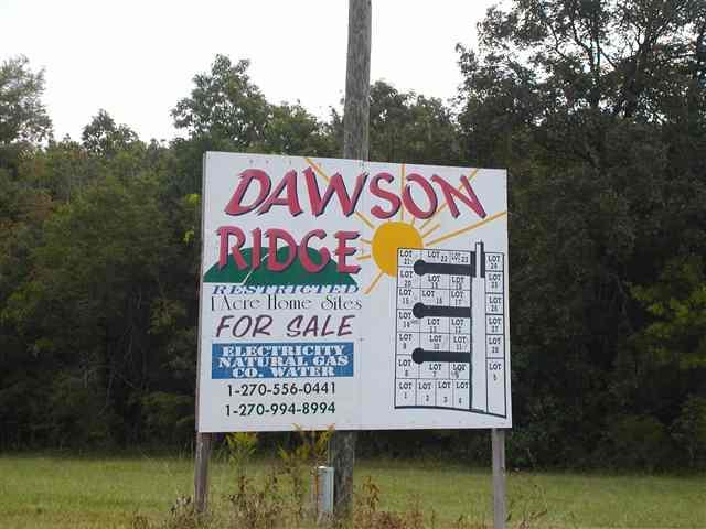 Lot 3 Dawson Ridge Subdivision, Benton, KY 42025 (MLS #90575) :: The Vince Carter Team