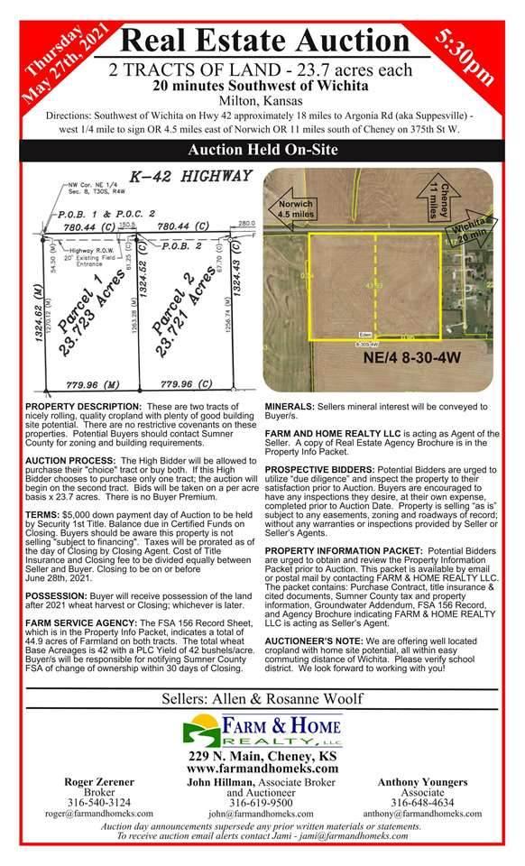 0000 W 140 Ave N, Milton, KS 67106 (MLS #595522) :: Preister and Partners | Keller Williams Hometown Partners