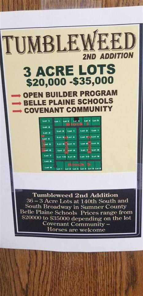 00000 139th Ave Block 2 Lot 9, Belle Plaine, KS 67013 (MLS #598607) :: Graham Realtors