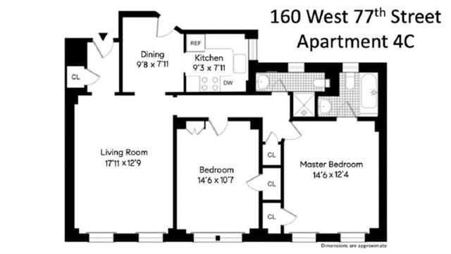 160 W 77th Street 4C, New York, NY 10024 (MLS #4939358) :: Mark Boyland Real Estate Team