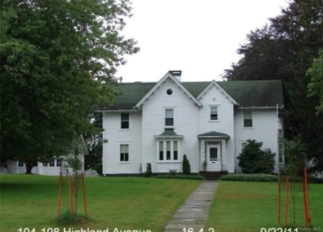 104-108 Highland Avenue, Middletown, NY 10940 (MLS #H6148168) :: Barbara Carter Team