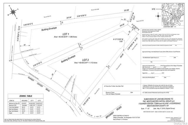 0 Quaker - Lot 2 Center, Scarsdale, NY 10583 (MLS #H6149045) :: Cronin & Company Real Estate