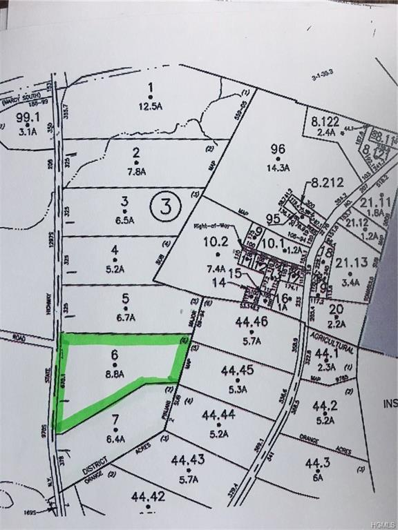 Lot 6 State Route 208, Campbell Hall, NY 10916 (MLS #4842458) :: Stevens Realty Group